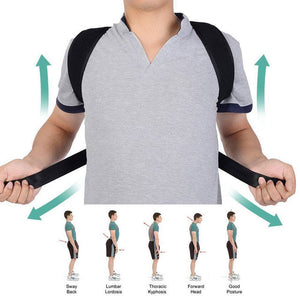 Posture Corrector And Back Support Brace (Adjustable to Multiple Body Sizes) | Hunchback Corrector