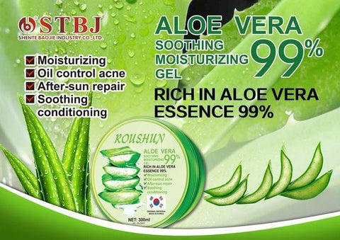 Image of ROUSHUN 99% Aloe Vera Soothing And Moisturing Gel | Anti-Acne And Sunburn Repair Gel
