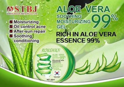 ROUSHUN 99% Aloe Vera Soothing And Moisturing Gel | Anti-Acne And Sunburn Repair Gel
