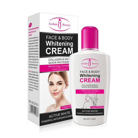 Image of AICHUN BEAUTY Body and Face Whitening Cream | Collagen and Milk Whitening Cream