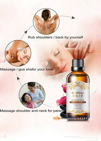 SKINMENU Relaxation, Stress And Pain Relief Massage Oil | Sensual And Romantic Massage Oil