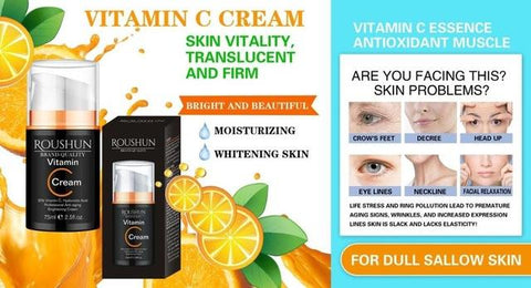 Image of ROUSHUN Vitamin C And Hyaluronic Acid Anti-Aging And Brightening Cream
