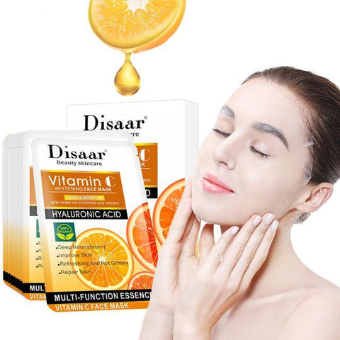 Image of DISAAR Vitamin C And Hyaluronic Acid Whitening Face Mask