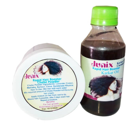 Image of JUNIX Chebe And Karkar Oil Hair Booster | Hair Treatment Solution