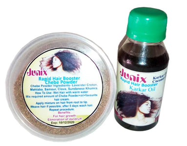 JUNIX Chebe And Karkar Oil Hair Booster | Hair Treatment Solution