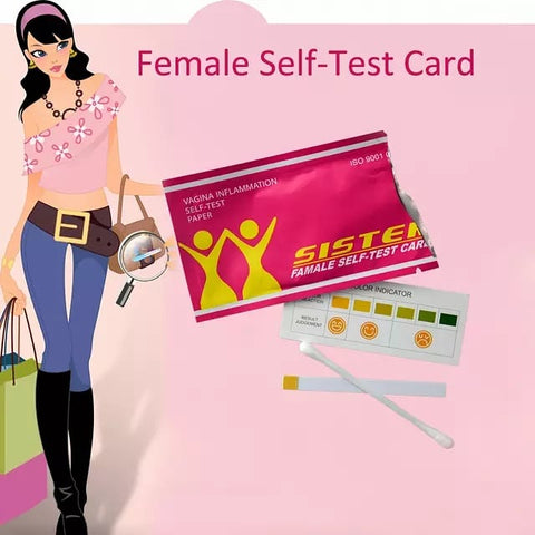 Image of Vaginal Self-Test Card | Vaginal pH Test Strips | Yoni Self-Test Paper