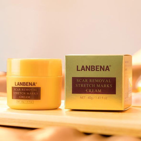 LANBENA Scar, Stretch Marks And Acne Removal Cream | Skin Repair And Whitening Cream