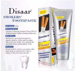 DISAAR Smoke Stains Removal And Whitening Toothpaste | Smokers' Toothpaste