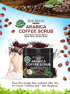 ROUSHUN Scar, Wrinkle, Acne And Skin Detox Scrub | Arabica Coffee Scrub
