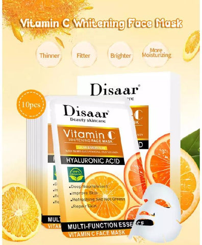 DISAAR Vitamin C And Hyaluronic Acid Whitening Face Mask