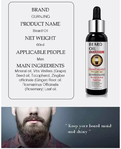 Image of GUANJING New Advanced Beard Growth Oil | Beard Master Professional Care