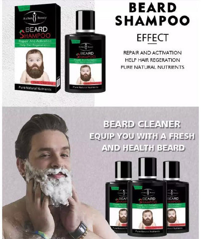 Image of AICHUN BEAUTY Deep Cleansing Beard Shampoo | Hair Repair, Activation And Regeneration Shampoo
