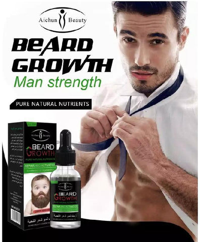AICHUN BEAUTY Beard Growth Essential Oil | Beard Growth Serum