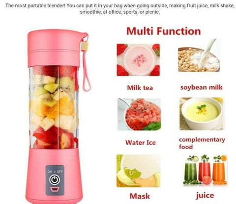 UPGRADED 6-Blade Single-Battery Double-Power 380ML Portable Blender