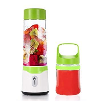 Double Cup (300ML & 500ML) Blender With Power Bank Function, Sawtooth Blades And Double Battery
