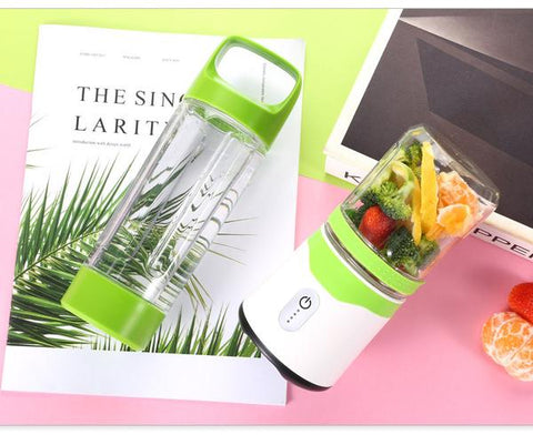 Image of Double Cup Blender With Power Bank Function And 3D Blades - 300ML & 500ML With Double Battery