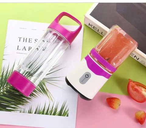 Double Cup Blender With Power Bank Function And 3D Blades - 300ML & 500ML With Double Battery