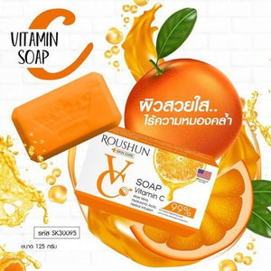 ROUSHUN Vitamin C Soap With Aloe Vera And Hyaluronic Acid | Anti-Aging Brightening Soap