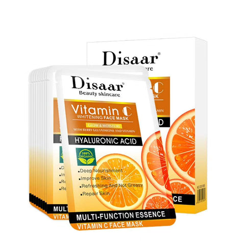 Image of DISAAR Vitamin C Whitening Face Mask | With Hyaluronic Acid and Berry Glutathione