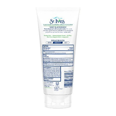 St. Ives Blackhead Clearing Face Scrub Green Tea 6 oz