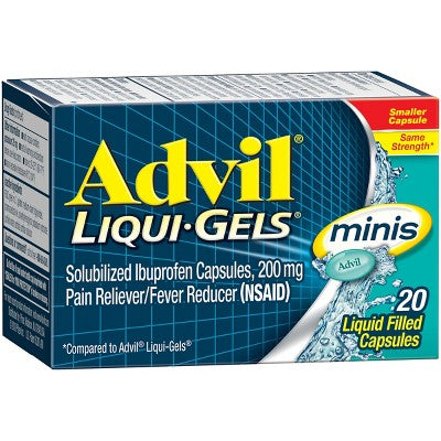 Advil Pain Reliever/Fever Reducer Liqui-Gel Minis - Ibuprofen (NSAID)
