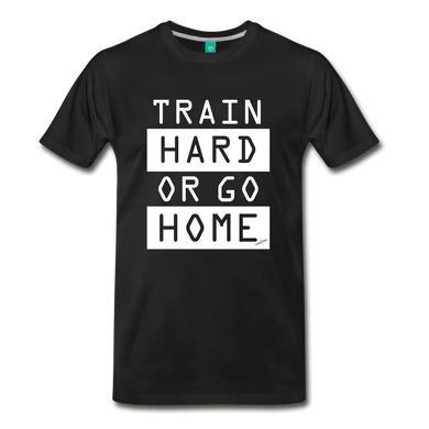 Train Hard Premium Tee - black
