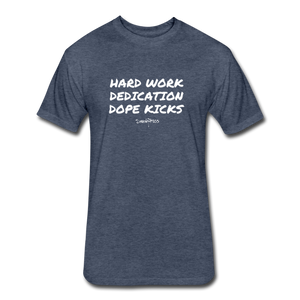 Hard Work! Basic Short Sleeve T-shirt - heather navy
