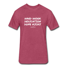 Hard Work! Basic Short Sleeve T-shirt - heather burgundy