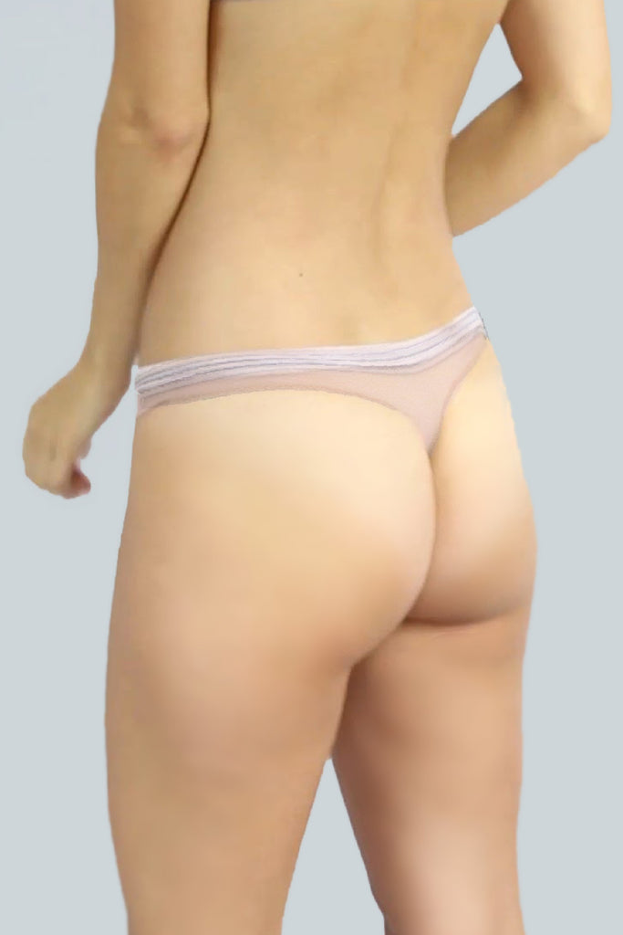 Silk and Tulle Thong