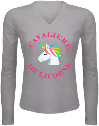 Tee shirt femme manches longues licorne