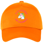 Casquette equitation cavaliere de licorne orange
