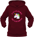 Sweat equitation fille cavaliere de licorne bordeau