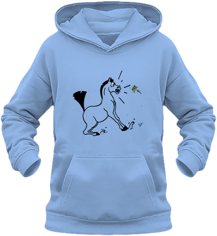 sweat enfant cheval papillon