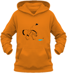 Sweat dessin cheval enfant la flaque d'eau orange