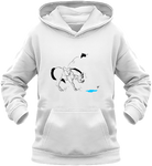Sweat dessin cheval enfant la flaque d'eau blanc