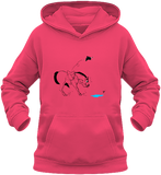 Sweat dessin cheval enfant la flaque d'eau fuchsia