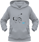 Sweat dessin cheval enfant la flaque d'eau gris