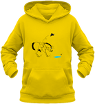 Sweat dessin cheval enfant la flaque d'eau jaune