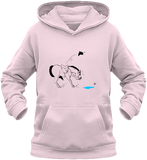 Sweat dessin cheval enfant la flaque d'eau rose