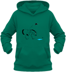 Sweat dessin cheval enfant la flaque d'eau jade