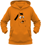 Sweat enfant motif cheval et coccinelle orange