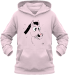 Sweat enfant motif cheval et coccinelle rose