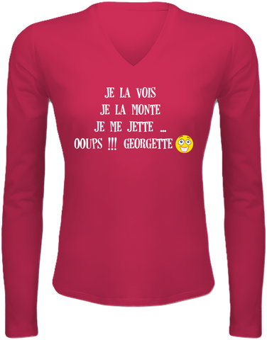Tee shirt femme manches longues Georgette