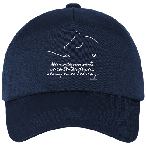 Casquette equitation citation Baucher navy