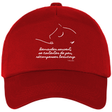 Casquette equitation citation Baucher rouge