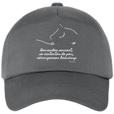Casquette equitation citation Baucher grise