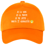 Casquette equitation cso georgette orange