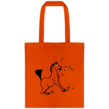cadeau dessin cheval sac orange