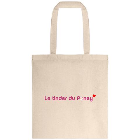 Tote bag Tinder du poney naturel