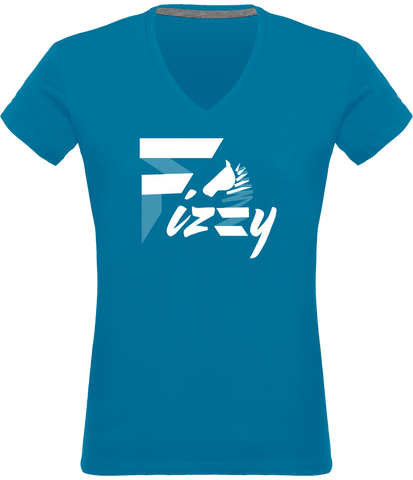 t-shirt femme Fizzy demi-pension cheval poney bleu tropique